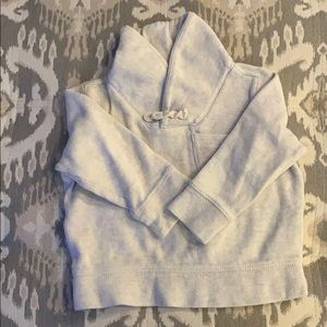 Baby gap shawl collar sweatshirt